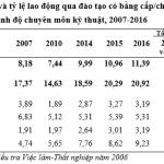 Lao động kỹ năng và trình độ chuyên môn kỹ thuật của lao động Việt Nam